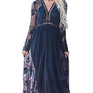 476d2396da68 Women Vintage Chiffon Maxi Dress on Poshmark